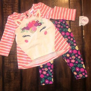 NWT unicorn flower outfit